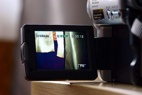 Foto de una cámara de vídeo
