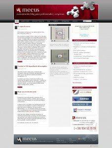 Mecus, comunicación blog