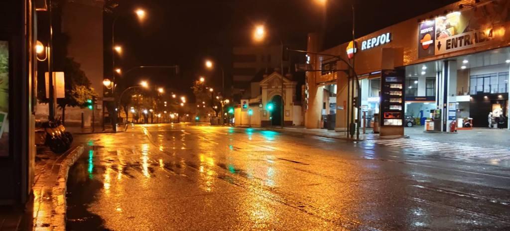 Calles vacías por el Cov19