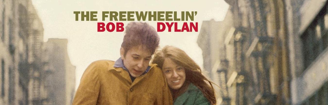 Portada del disco The freewheelin' de Bob Dylan